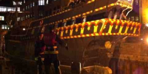 Firefighters Save Golden Hinde From Flooding