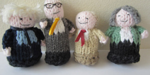 Four Mayoral Candidates...Knitted
