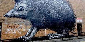 Giant Roa Hedgehog Decorates Shoreditch