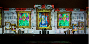 Giant Queen Portraits To Light Up Buckingham Palace