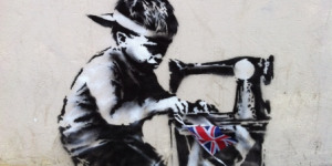 New Banksy With Bunting In Wood Green High Road