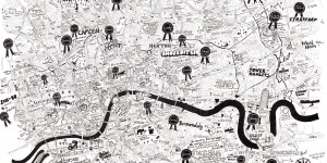 Hand-Drawn Maps Of London: Super-Detailed City