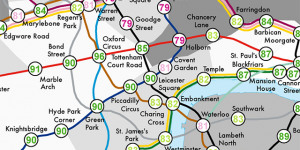 Alternative Tube Maps: Life Expectancy