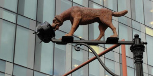 Charles Dickens Dog And Pot Sculpture Unveiled In Southwark