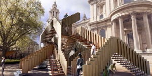 Endless Staircase At St Paul's Cathedral