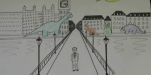 There's Dinosaurs On Westminster Bridge