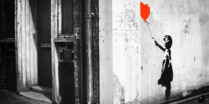 Banksy Street Art On Display Prior To Auction
