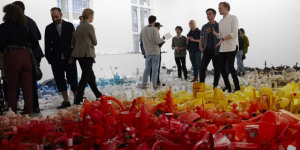 An Artist's Studio Littered With Rubbish