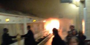 Fire On Train At Charing Cross Rail Station