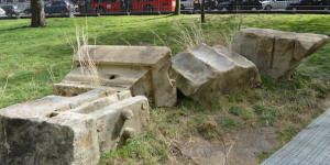 Stones From Euston Arch Go On Display