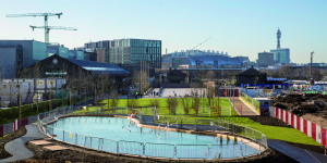 Outdoor Bathing Pond Opens In Central London