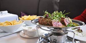 Rowley's Entrecote Steak at Mandeville Hotel's deVille Restaurant