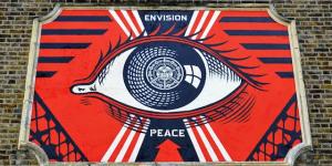 """Shepard """"Obey"""" Fairey Paints Turnpike Lane Mural"""