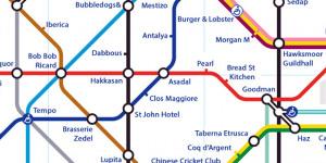 Alternative Tube Maps: London Restaurants