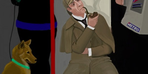 Sherlock Holmes Rides The Tube, And Other London iPad Art