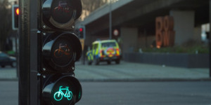 In Pictures: New Eye-Level Cycle Signals Installed At Bow Interchange
