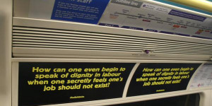 Commuters Targeted By Guerilla Tube Posters