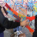 Co-operation between knitters and graf artist - Photo by zefrog via the Londonist Flickr pool