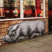 A pig on Bacon Street, near Brick Lane. Image / Cafedereves.
