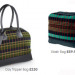 Sturdy bags made from Tube moquettes.