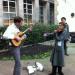 A musical interlude in a City churchyard.