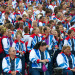 Team GB assembled in front of the Palace. (Andy Thornley)