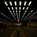 The once futuristic road tunnel running under the Barbican, by Richard Watkins