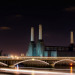 Battersea Power Station : A night shot of the now defunct, yet iconic power house