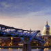 """Wobbly Bridge : No set of London based photos are complete without the popular shot of the """"Wobbly Bridge"""""""