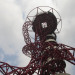 The Orbit tower from below.