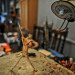 The Freddie Mercury sculpture under preparation in Marcus Crocker's studio.