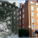 Severe bomb damage on Broadley Street, and how it was patched up. 1941 and 2013.