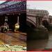 Blackfriars Bridge 1980 and 2013.