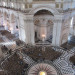 Looking down on the central crossing beneath the dome.