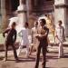 The Italian stylist Valentino posing among his models nearby Trevi Fountain. Rome, July 1967 | Photo Credit: [ The Art Archive / Mondadori Portfolio / Marisa Rastellini  ]