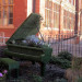 Green piano at Blackheath Conservatory back in 2012, by msganching on Flickr.