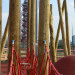 The children's playground is well aligned with the ArcelorMittal Orbit.