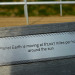 One of our favourite features of the Olympic Park were the many bench plaques containing thought-provoking facts. We're pleased to see these have been retained.