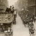 A B-type bus operating on route 9 passing a regiment of cavalry. Copyright TfL.