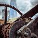 Old crane and Shard by tonybill