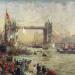 William Lionel Wyllie - the Opening of Tower Bridge, 1894.