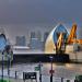 Thames Barrier shuts gate by Dave Banbury
