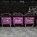 Purple dustbins, by PhropecyBlur