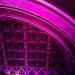 Purple-lit Union Chapel in Highbury and Islington, by Zefrog