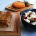 Spinach pie, Metsovone cheese and Dakos Salad