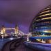 Purple sky over City Hall, by John Herbert