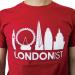 Londonist cardinal red  t-shirt.