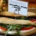 Mozzarella and tomato sandwich