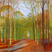 David Hockney, Woldgate Woods, 21, 23 and 29 November 2006 (Photo Richard Schmidt)