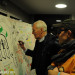 Tony Benn and Stik at the Festival of Dangerous Ideas.